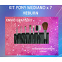 Kit Pony Mediano 7 Pinceles Cod 474