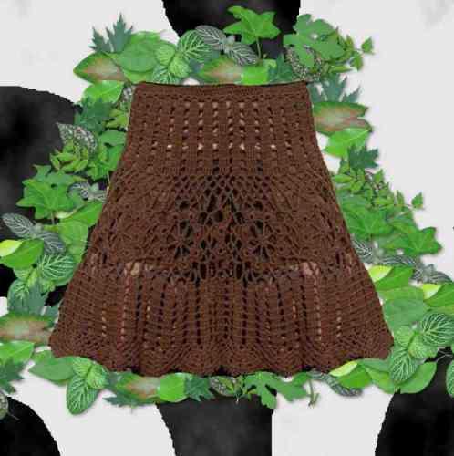 Poncho/ Pollera Tejido A Crochet Romantico Y Sensual .!!! - Ropa y ...