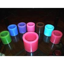 Fanal De Parafina 8 X 8 Redondo Liso Aroma Y Color