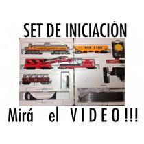 Set Básico Tren Eléctrico Ferromodelismo Mehano Escala 1/87