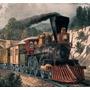 Tren Infantil Con Locomotora De Madera, Juegos Mini Deposito