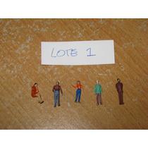 Lote 10 Personas Escala 1:76 1:87 Trenes - Variados Pintados