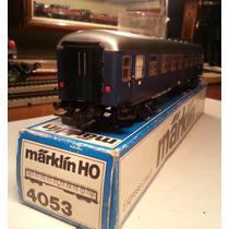 Mda3026: Marklin 4053 Vagón De Pasajeros Con Luz. Tren H0