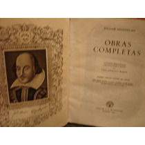 William Shakespeare Obras Completas Aguilar 1951