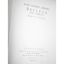Belleza En Verso Juan Ramon Jimenez Primera Edicion 1923
