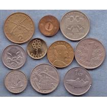 Lote 10 Monedas Del Mundo * Austria Dinamarca Holanda