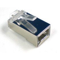 Fichas Utp Rj45 Blindada Doble Contacto Metalico X 20 U