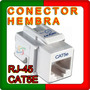 Conector Hembra Rj-45 Cat5e Blanco Local En Lanus