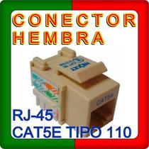 Conector Hembra Rj-45 Cat5e Tipo 110 Marfil Local En Lanus