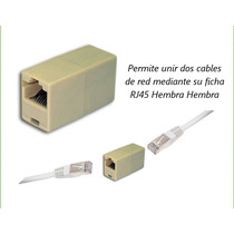Union Hembra Hembra Para Cable Utp Red Fichas Rj-45