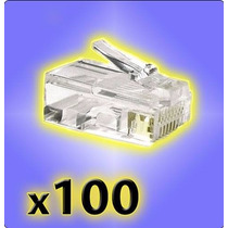 Ficha Rj45 X 100 -tenemos Cable 305mts Utp Cat 5 Mejor $$