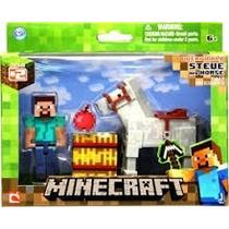 Minecraft Steve Y Caballo. Nuevo Sellado Original Mojang Usa