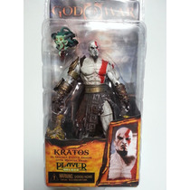 God Of War Kratos In Golden Fleece Armor Medusa Head Neca