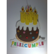Cartel Cumpleaños - Torta Cumpleaños - Goma Eva 47 X 42 Cm