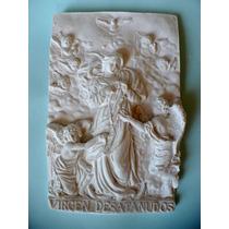 Pieza De Yeso: Virgen Desatanudos Placa.