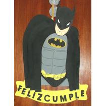 Cartel Cumpleaños - Batman - Goma Eva 57 X 35 Cm