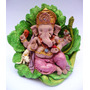 Yeso: Ganesha Trebol Pintada A Mano. Personalizada.