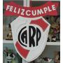 Cartel Cumpleaños - River Plate - Goma Eva 32 X 35 Cm