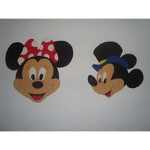 Figuras En Goma Eva Mickey - Minnie