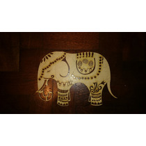 Figura En Fibrofacil Corte Laser Elefante