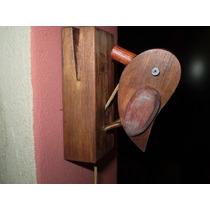 Llamador Artesanal De Madera (pájaro Carpintero)