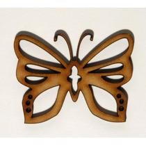 Figuras Fibrofacil Mariposas Caladas Mdf X 10 Unidades.