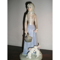 923- Figura De Porcelana Española Monti Piero 21 Cm