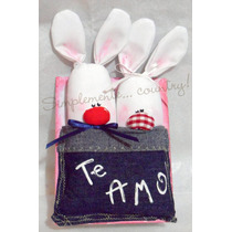 Pareja De Conejos! Pack X 10u! Souvenir Casamiento Boda
