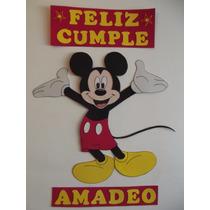 Carte Feliz Cumple! Mickey En Goma Eva