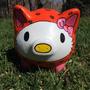 Alcancía Chancho Hello Kitty Pintada A Mano - Regalos Únicos