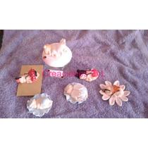 10 Souvenirs Bebe En Porcelana Fria Con Tul Y Cinta Bb