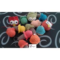 Llaveros Crochet Por 10 Unidades Tejidos En Hilo De Algodon