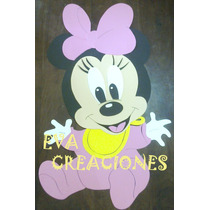 Carteles Infantiles Figura Minnie Bb Kitty Disney Goma Eva