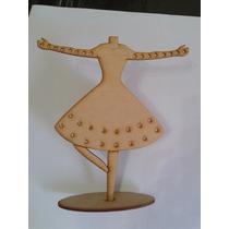 Bailarina Cuelga Aros. Souvenir, Centro De Mesa, Pack X10 U