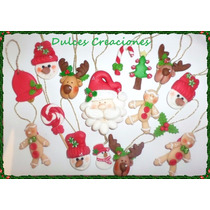 Apliques Colgantes En Porcelana Fria Navidad Pack X 10
