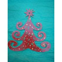 Adornos Navidad En Madera Pintados Artesanalmente