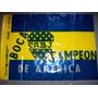 Vieja Bandera De Plastico De Boca Campeon America - No Envio