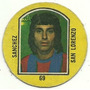 Figurita San Lorenzo Campeones 1976 Redonda Futbol Sanchez