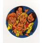 Figurita Redonda Álbum Chapitas 1981 Grupo Música Abba Nº 52