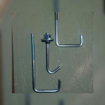 Gancho L 20 X 40 Para Techos Con Accesorlos X 100 Unl