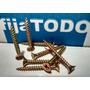 Tornillo 5 X 45 Fix Fresado Amarillo Para Madera X 4000