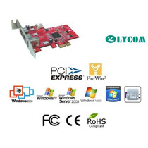 Adapt Pci-e 2 Ports 1394b 800mbps+ 1 1394a 400mbps Chip Ti