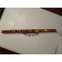 Bellisima Flauta Dulce Traida Del Norte Decoradas Con Figura