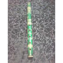 Flauta De Caña Con Dibujo Gravado