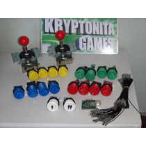 Kit Mame Interfaz Usb+cables+16 Botones+2palancas+player 1y2