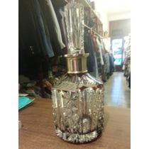 Importante Botellon De Cristal Checoslovaco