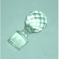 M40 Viejo Tapon En Vidrio Prensado Tallado Diamante