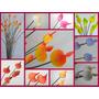 Hojitas: Hermosas Flores De Porcelana De Brillantes Colores