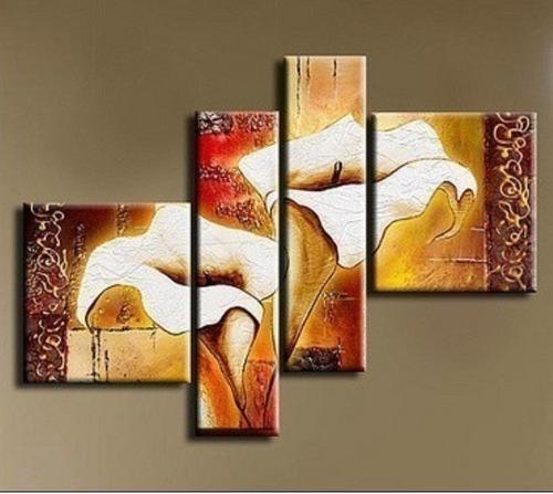 Cuadros tripticos flores calas imagui - Cuadros decorativos para cocina abstractos modernos ...