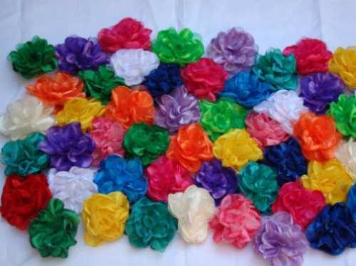 Flores De Tela Con Pico Para El Pelo O Prendedor - $ 30,00 en ...